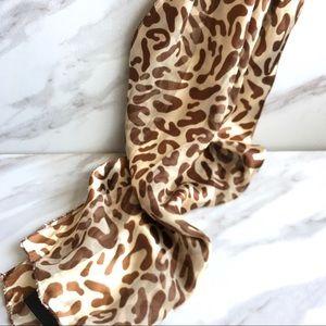 BONWORTH Brown and Cream Cheetah Print Scarf